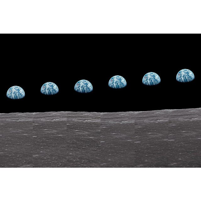 TASCHEN Autographed Buzz Aldrin Apollo 11 'Earthrise Sequence' Art Print For Sale - Image 4 of 11