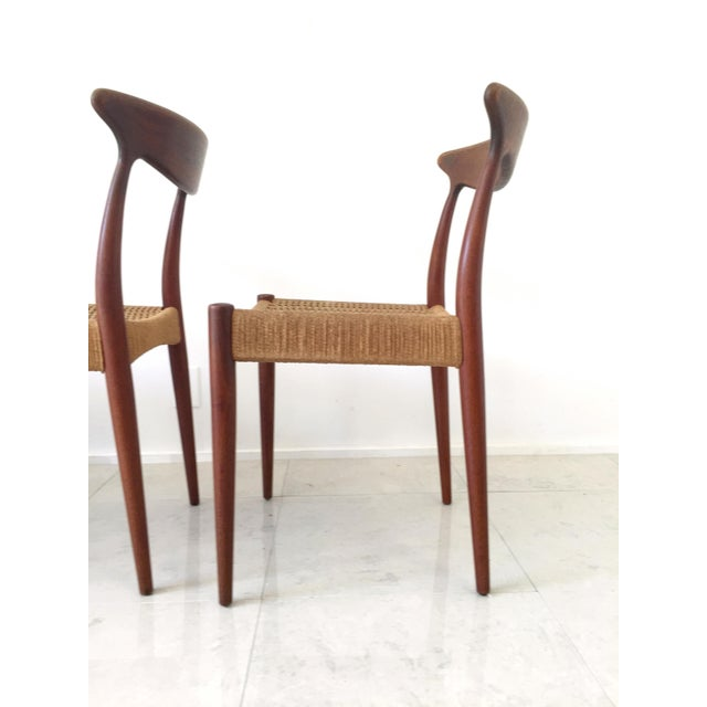 Brown Arne Hovmand Olsen Teak Dining Chairs -Set of 4 For Sale - Image 8 of 10