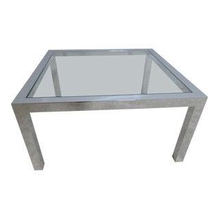 Mid-Century Chrome Parson Coffee Table For Sale