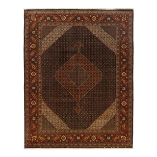 One-Of-A-Kind Persian Hand-Knotted Area Rug, Mocha, 9' 9 X 12' 7 For Sale