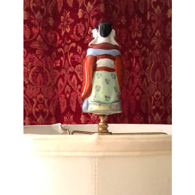 Asian Chinoiserie Porcelain Immortal Figure Lamp Finial For Sale - Image 3 of 5