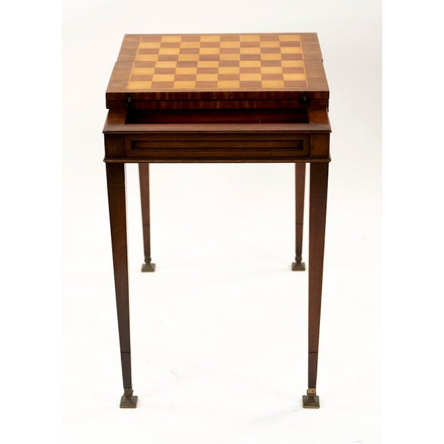1950s Vintage Mahogany Game Table - 1950's Weiman For Sale - Image 5 of 13