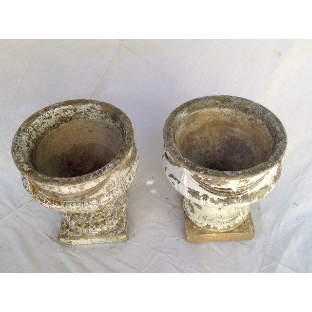Concrete Garden Urns - A Pair - Image 3 of 4