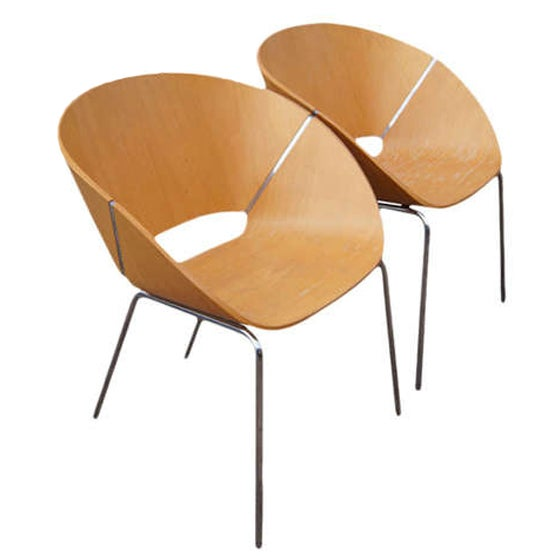 Wolfgang C.R. Mezger Lipse Chairs - A Pair For Sale