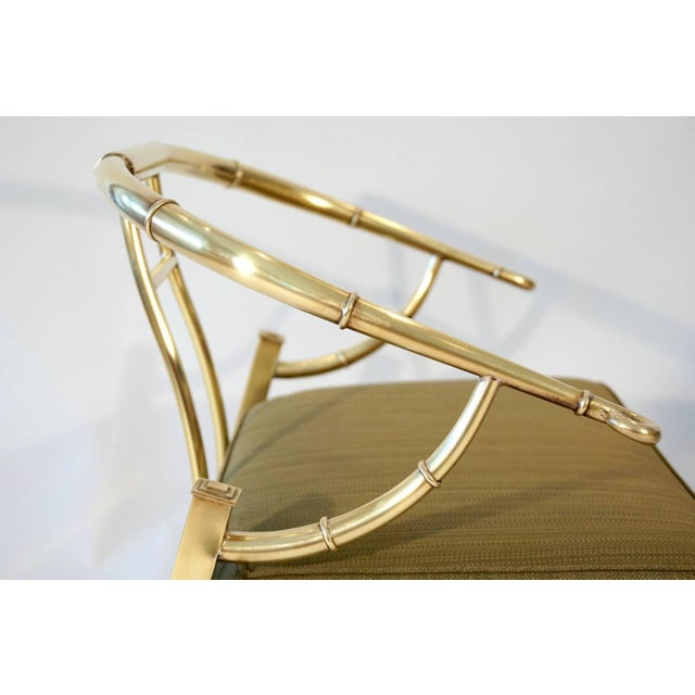 Pair of Brass Lounge Chairs by Mastercraft - Image 5 of 6