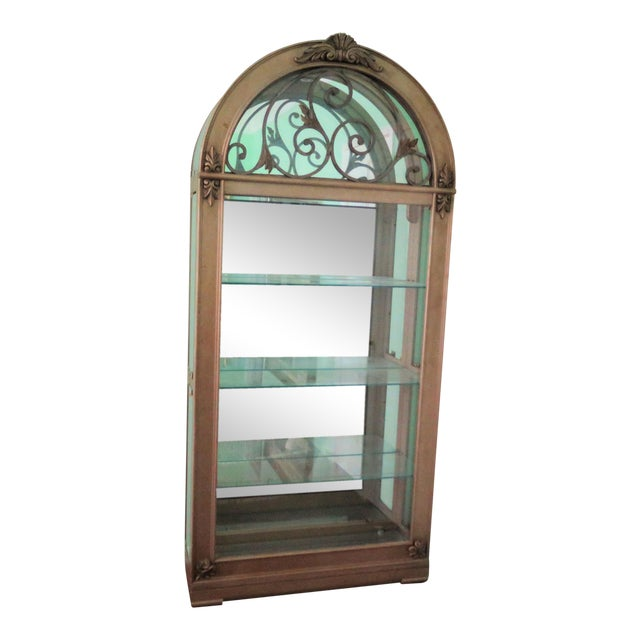 Hollywood Regency Display Case For Sale