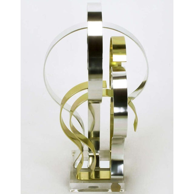 1980s Dan Murphy (American 20th C) Gold & Clear Anodized Aluminum Sculpture For Sale - Image 5 of 10