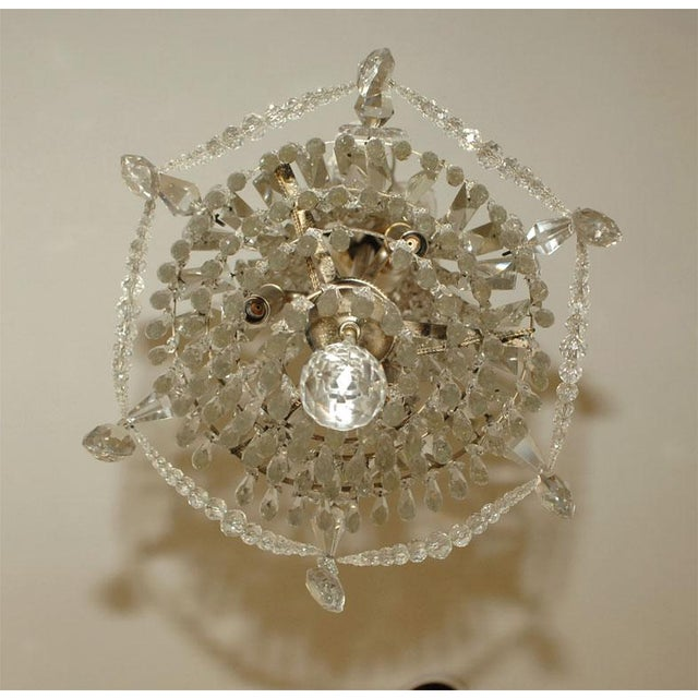 1900s Crystal Chandelier For Sale - Image 4 of 7