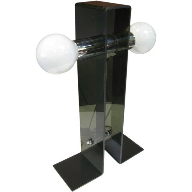 Italian Fume Acrylic Lamp - Image 1 of 4