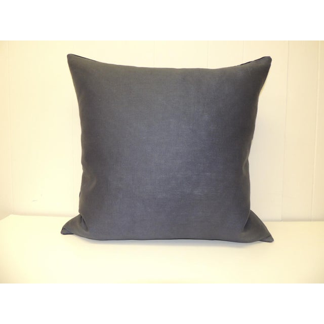 Vintage Indigo and White African Resist-Dye Textile Decorative Pillow For Sale - Image 4 of 5