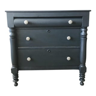 Transitional Style Indigo Chest