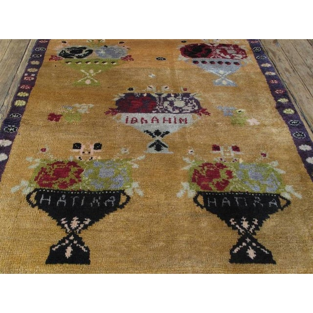 "Islamic ""Five Bouquet"" Tulu Rug For Sale - Image 3 of 9"