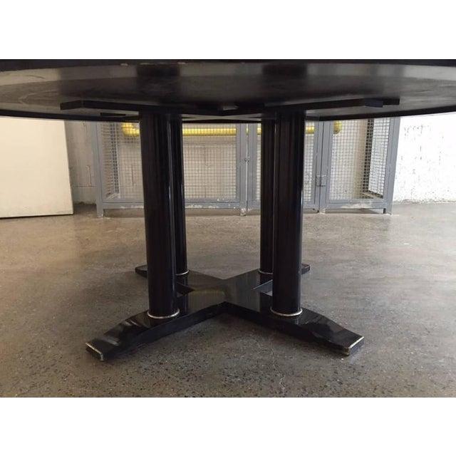Italian Large Italian Zebra Wood Center Table For Sale - Image 3 of 5
