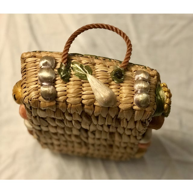 Ornamental & Decorative Materials 20th Century Rustic Style Grass Basket For Sale - Image 7 of 8