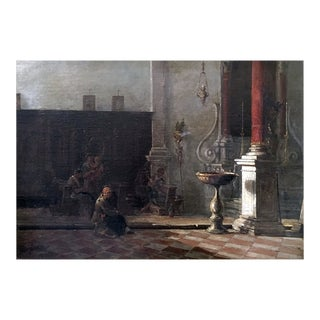 [unattributed] American/ English School Signed : Study of the Church, 1874. For Sale
