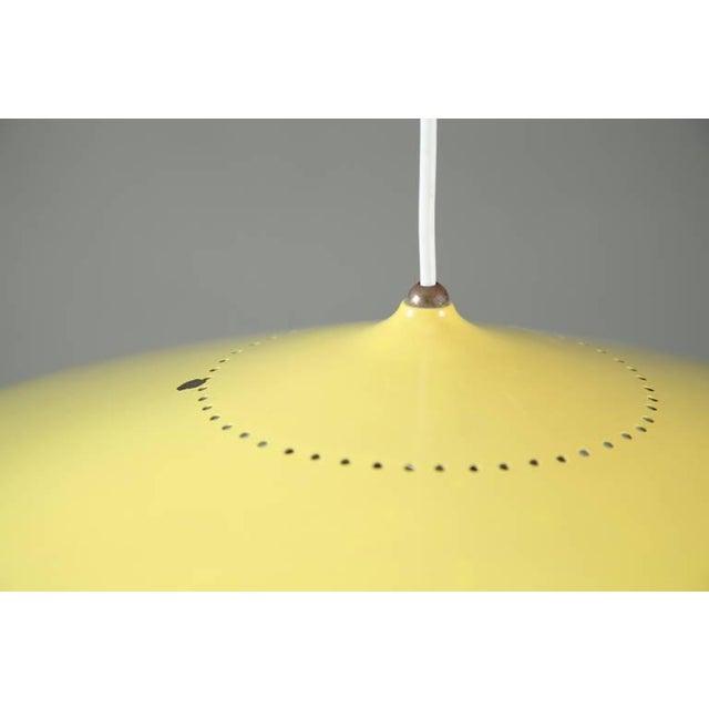 Early Gaetano Sciolari pendant in yellow and dark brass. Stilnovo, Italy, 1950s - Image 5 of 8