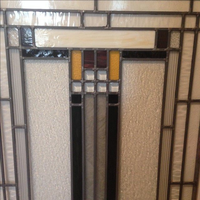 Craftsman Style Stained Glass Panel - Image 3 of 10