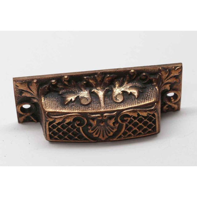 Antique French Bronze Drawer Bin Pulls - a Pair For Sale - Image 4 of 7