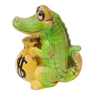 Mid-Century Japanese Paper Mache Crocodile Bank For Sale