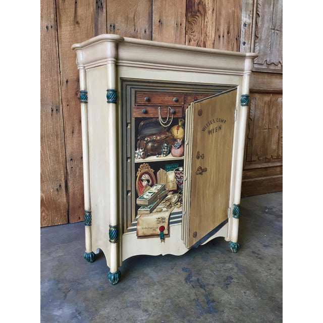 "20th Century Italian Palladio ""Trompe L'oeil"" Hand Painted Wood Cabinet For Sale - Image 13 of 13"