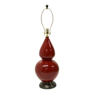 Robert Abbey Burgundy Gourd Lamp For Sale