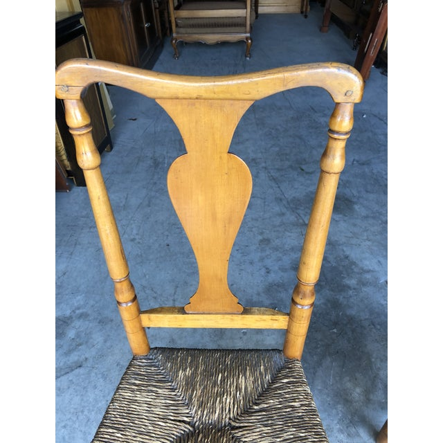 Maple Late 18th Century Country Queen Anne Chairs- A Pair For Sale - Image 7 of 11