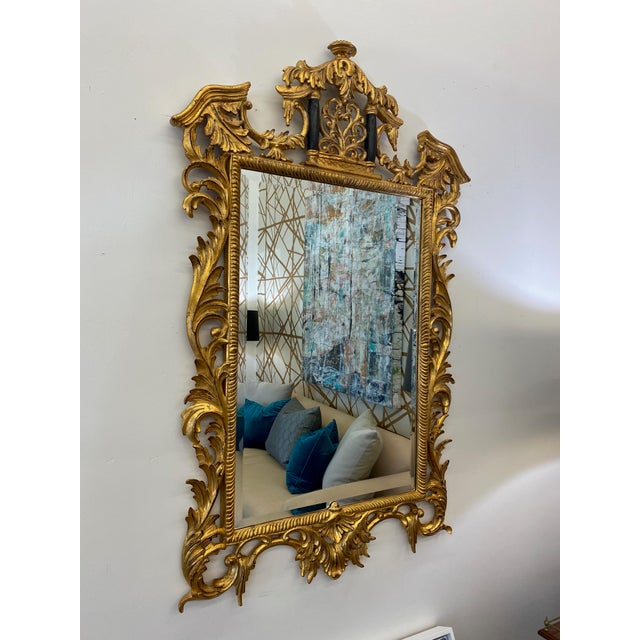Mirror, mirror on the wall, YOU are the fairest of them all! Gilded frame of scrolling acanthus leaves surround the...