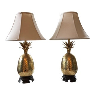 Vintage Heyward House Pineapple Lamps - A Pair For Sale