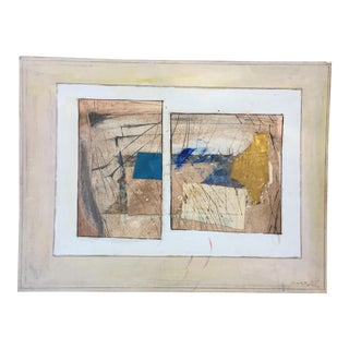 Ronald Ahlstrom Abstract Collage Painting
