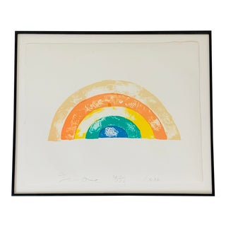 """Rainbow"" Jim Dine Signed Limited Edition Lithograph, 1972 For Sale"