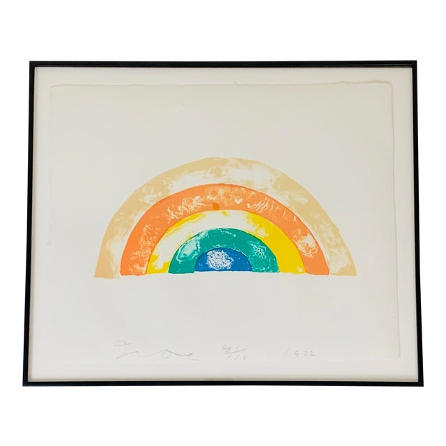 """""""Rainbow"""" Jim Dine Signed Limited Edition Lithograph, 1972 For Sale"""