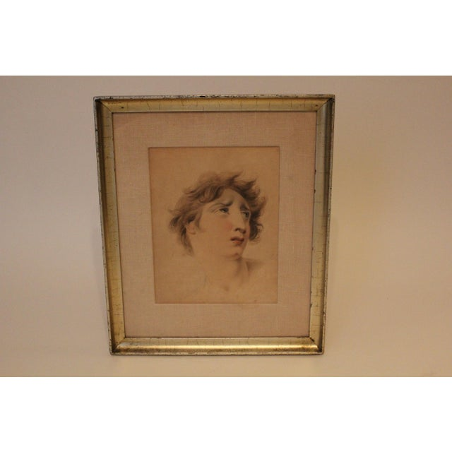English Traditional English Classical After Lawrence Portraits Paintings - Set of 2 For Sale - Image 3 of 6