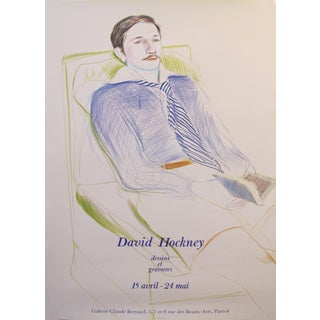 1975 Original David Hockney Exhibition Poster - Dessins Et Gravures at Galerie Claude Bernard For Sale