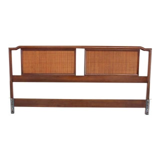 King-Size Walnut Headboard Bed For Sale