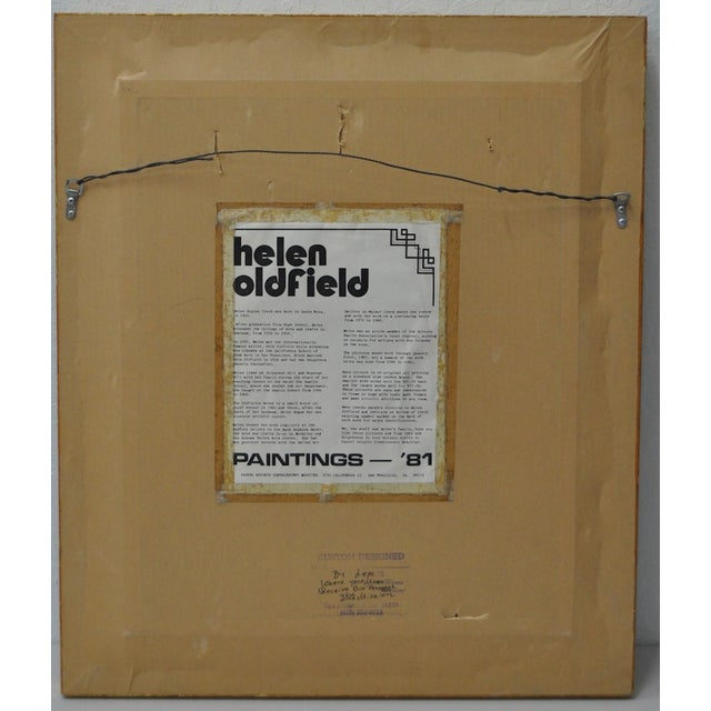 Helen Clark Oldfield 1970 Modern Portrait Painting For Sale In San Francisco - Image 6 of 6
