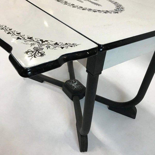 1930s Art Deco Metal Folding Dining Table For Sale In New York - Image 6 of 9