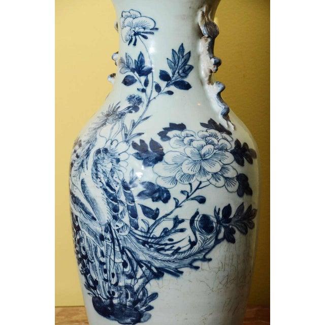 Blue & White Temple Vase - Image 5 of 7