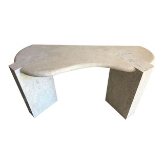 Sculptural Tessellated-Fossil Console Table For Sale