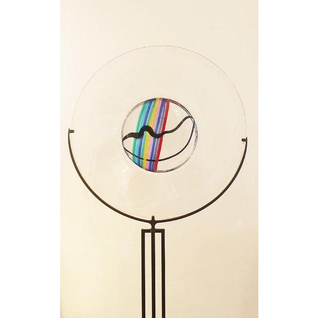 1970s Glass Disc by Livio Seguso for Oggetti, Italy, Circa 1970s For Sale - Image 5 of 7