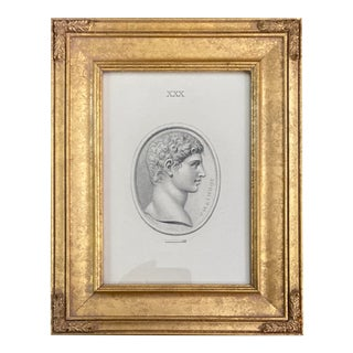 Vintage Neoclassical Print of Intaglio of Anthony For Sale