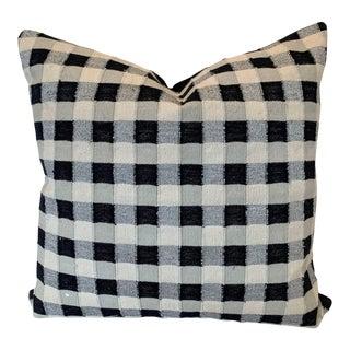 Metallic Buffalo Check Pillow For Sale