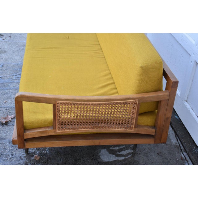 Danish Style Yellow Daybed - Image 5 of 10
