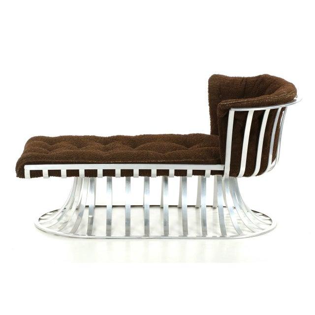 Circa 1960 Russell Woodard Mid-Century Aluminum Chaise Lounge - Image 3 of 11