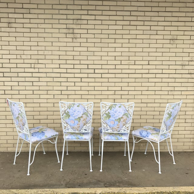 "Iron ""Garden Party"" Chairs - Set of 4 For Sale - Image 6 of 6"