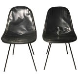 Image of Pair of Fine Early Dkx Charles Eames Chairs for Herman Miller For Sale