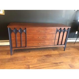 "Mid Century Long ""Perspecta"" Kent Coffey Walnut 9 Drawer Dresser Sideboard Preview"