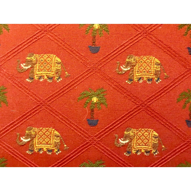 Green Antique Red Elephant Upholstered American Sofa For Sale - Image 8 of 9
