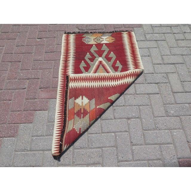 Vintage Turkish Kilim Small Rug - 2′6″ × 3′10″ - Image 5 of 5