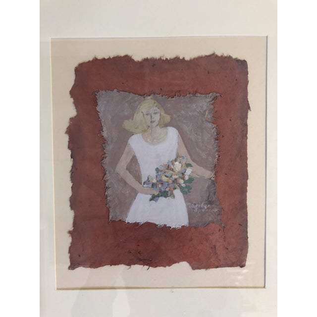 Marilyn Spencer (New Orleans, 1939-2017) Acrylic on Paper, in very good condition. Professionally framed, with artist's...