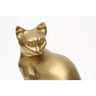 Mid Century Brass Cat Sculpture Preview